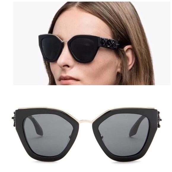 aad4a1058ca Authentic Prada Beaded Cat Eye Sunglasses